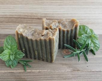 Organic Rosemary Mint Shampoo Bar, Natural Shampoo Bar, Eco Friendly Shampoo, Solid Shampoo, Organic Hair Care, Chemical Free Shampoo, Vegan