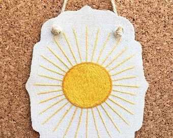 Hand Embroidered Sun