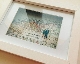 Bespoke Vintage Map Box - Oblong