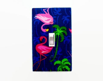 Flamingo Light Switch Cover - Pink Flamingos Switchplate - Teen Switch Plate