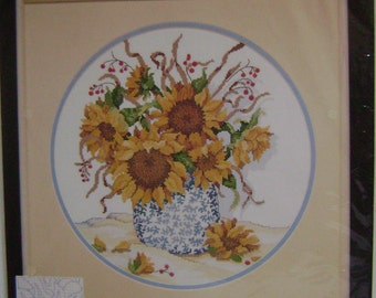 Dimensions Summer Sunflowers No Count Cross-Stitch Kit