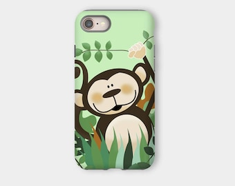 Cute Monkey iPhone 8 / iPhone 8 Plus Snap or Tough Case