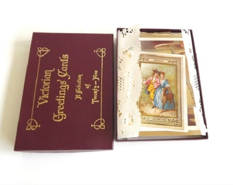 Vintage Victorian Greeting Cards Selection of 25 Reproductions of Original Cards 1860 to 1890