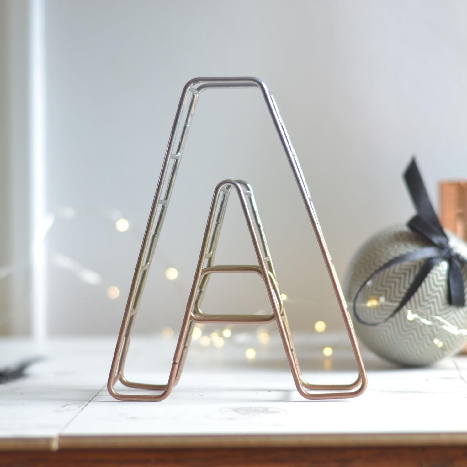 Ombre Powder Coat Letter Copper Wire Lettering Wire Letter