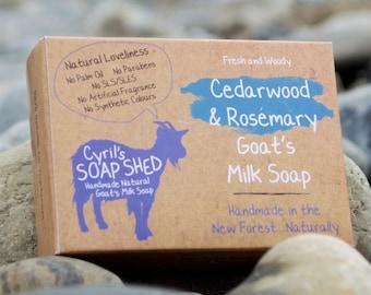 Cedarwood and Rosemary Goats Milk Soap