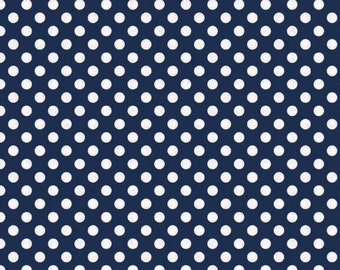 Navy Small Dot Fabric by Riley Blake