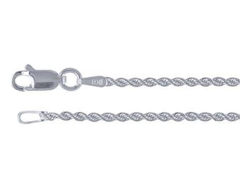 Sterling Silver French Rope Chain, select your thickness and your length....