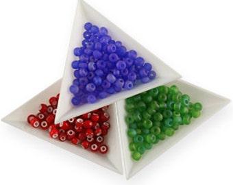 12) White Plastic Bead Tray set, Bead Storage, Bead Trays, Beading tray, beading supplies, Bead storage, bead organizer