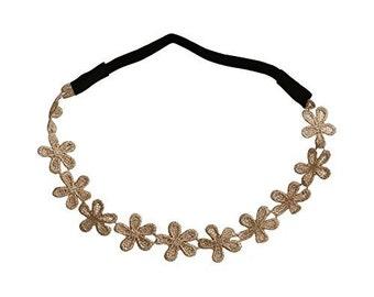 Art Attack Floral Flower Daisy Lace Stretch Fashion Boho Bohemian Workout Hair Headband Head Wrap