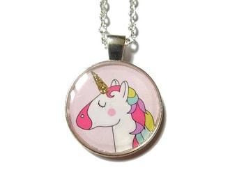 Unicorn - Unicorn Necklace - Unicorn Pendant - Unicorn Jewelry - Unicorn Jewellery - Silver Chain Necklace  danslairdutemps Unicorn Necklace