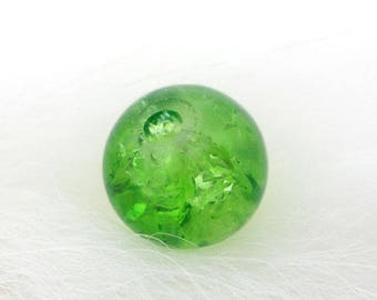 90 color 6mm Green Crackle glass beads