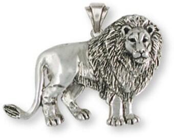 Solid Sterling Silver Lion Pendant - LION4P