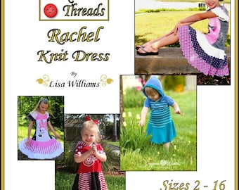 INSTANT DOWNLOAD: Rachel Knit Dress - diy Tutorial pdf eBook Pattern - Sizes 2 to 16 now includes slim fit sizes - Great for making upcycles