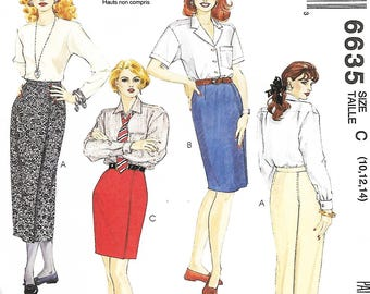 McCall's 6635, Misses Straight Skirt Pattern, Size 10-14, 12-16 & 14-18, UNCUT