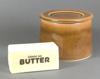 Brown, French Butter Dish, Butter Crock, Butter Bell, French Butter Keeper