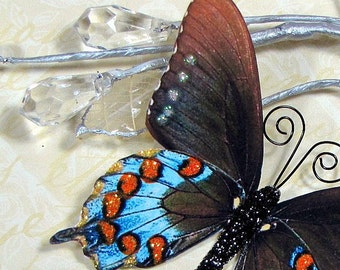 Butterfly Embellishments Turquoise Fire