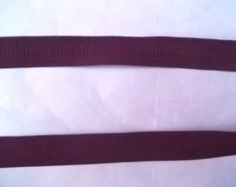 Foldover Elastic 5/8 Morel BROWN Chevron 5 yds. Headbands Hair Ties Doll Clothes