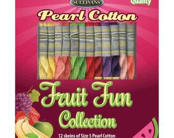 Fruit Fun Sullivans Size 5 Pearl Cotton Pack