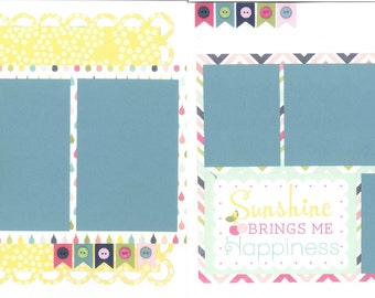 12x12 SPRINGTIME HAPPINESS scrapbook page kit, premade scrapbook, 12x12 scrapbook page kit, premade scrapbook page, 12x12 scrapbook layout