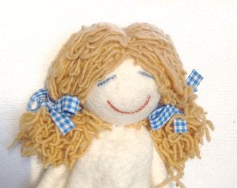 Felt doll - wet felted - hand embroidered - home decoration - 3 model