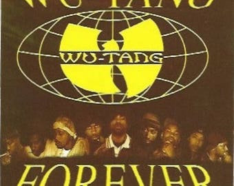 Wu-Tang Clan Sticker, Wu-Tang Forever, American Hip Hop, East Coast Rap, Vintage Sticker, 1990s