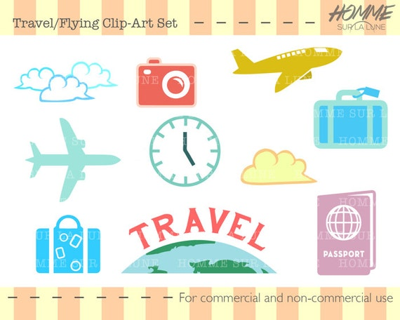 travel icons clipart travel clipart scrapbook clipart rh etsystudio com clip art for scrapbooking free to print clipart for digital scrapbooking