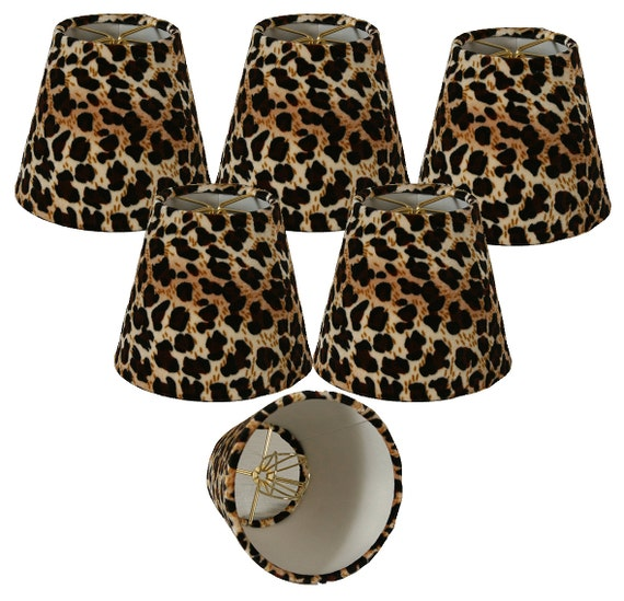 5 Black Amp Brown Leopard Print Chandelier Lampshade 3 X