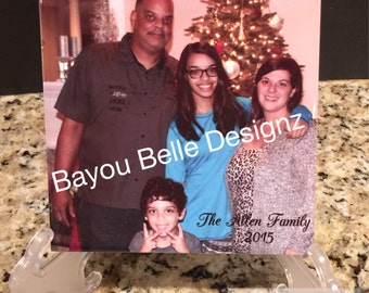 PHOTO TILES, PICTURE, family, Personalized photo tiles- 6x6,