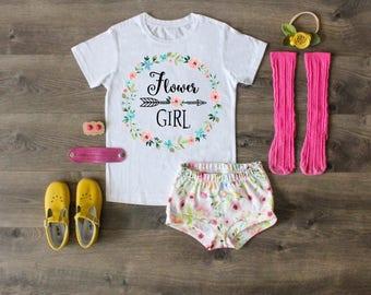 Flower Girl Shirt, Flower Girl Outfit, Flower Girl Gift, Wedding Flower Girl Shirt, Flower Girl Top