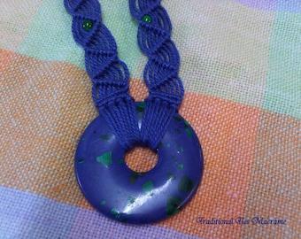 Malachite Dreaming Macrame Necklace