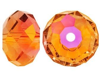 Swaovski 5040 briolette rondelle 6x4mm astral pink - Quantity of 12 beads