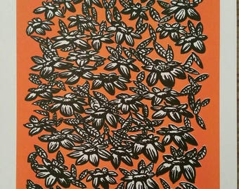 Risograph Print - Botanical Art