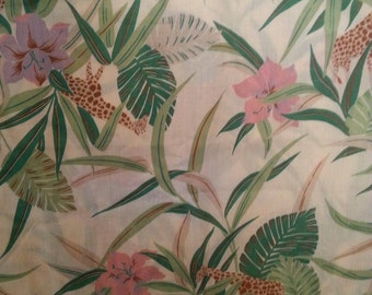 Tropical Cotton Print Fabric 45inches Wide