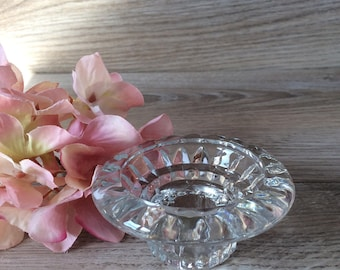 Vintage Cut Glass Candle Holder / Candle holder for tea lights or candle stick holders / Vintage romantic Shabby chic decor