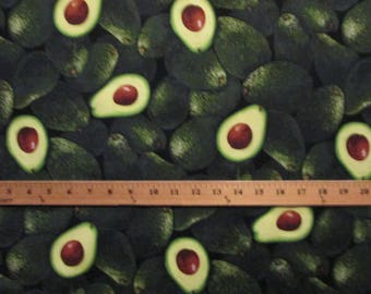 Avocados Realistic Food Green Cotton Fabric Fat Quarter Or Custom Listing