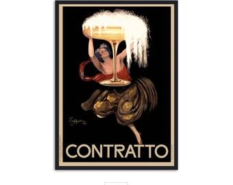 Wall art print, Vintage poster ad Contratto by Leonetto Cappiello fine Art print, P037