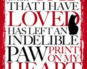 Forever Loved Cat sympathy card
