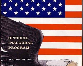 John F. Kennedy Inaugural Program Presidential Memorabilia