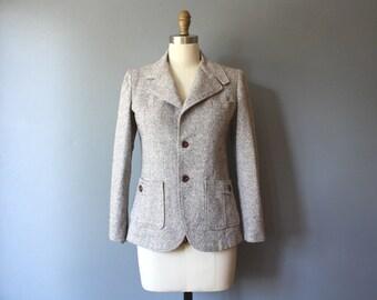 vintage blazer / equestrian blazer / grey fitted blazer / jacket