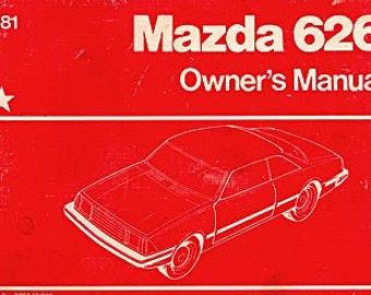 1981 Mazda 626 Owner's Manual  8207-00-80F