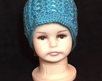 Crochet Baby Hat, Crochet hat 4-8 months, Teal Hat,