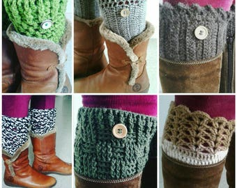 Promo Crochet boot cuffs