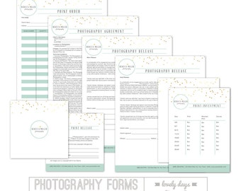 Photography Forms Business Contracts for Photographers INSTANT DOWNLOAD