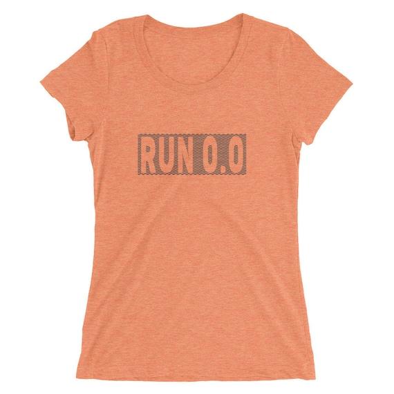 Women's Run 0.0 TriBlend T-Shirt - I Don't Run - Run 0.0 - Women's Short Sleeve Running Shirt
