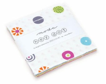 Hey Dot Charm Pack by Brigitte Heitland for ZEN CHIC for Moda Fabrics #1600PP 100% Cotton