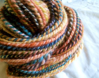 Good Morning Mister Romney - paired skeins 90yds total - worsted-plus handspun wool