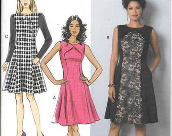 Misses/Misses Petite Curve Seam Dresses, Sizes 6 Thru 14, New Butterick Pattern 6280