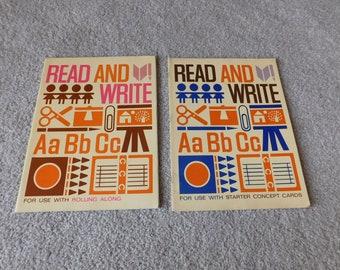 Vintage Elementary School Workbooks Lot of 2 Read and Write Open Highways 1967