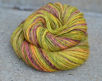 Fairgrounds - superwash Bluefaced Leicester (BFL) and sparkle singles handspun yarn - DK weight, 161 yards