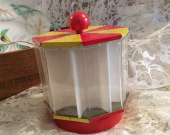 1960s Circus Tent Toy Bank Coin Counter Bank Collectible , die cast , spins, coin bank , mechanical bank